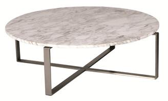 R & V Living Lilia Coffee Table White Marble