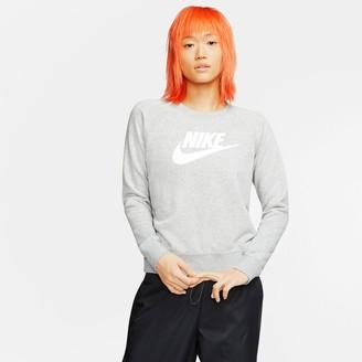 Nike Essential Logo Cotton Mix Sweatshirt with Crew-Neck