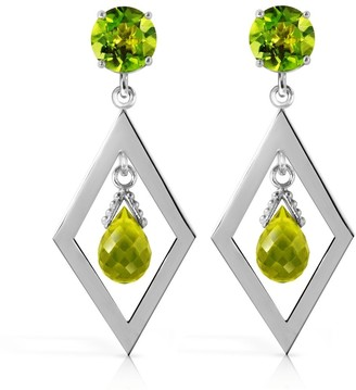 Overstock 2.4 CTW 14K Solid White Gold at The Pier Peridot Earrings