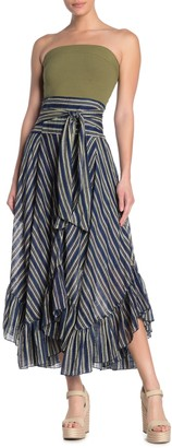 Free People Giselle Striped Handkerchief Maxi Skirt