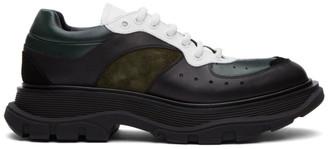 Alexander McQueen Black and Green Tread Slick Sneakers