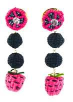 Luxchilas Iraca Palm Straw Fruit Earrings