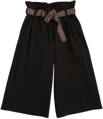 Fendi Viscose Blend Wide Leg Pants