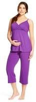Eve Alexander Women's Maternity Pajama Set