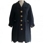 Christian Lacroix Navy Cotton Coat for Women Vintage