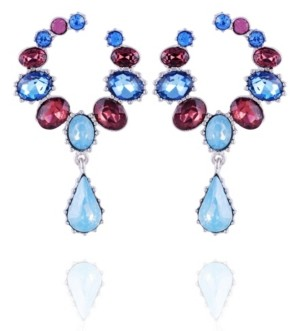 Nanette Lepore Extra Celestial Front Facing Hoop Earrings
