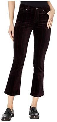 AG Adriano Goldschmied Jodi Crop in Delos Stripe/Port Wine/Magenta Margot (Delos Stripe/Port Wine/Magenta Margot) Women's Casual Pants
