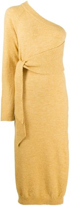 Nanushka One Shoulder Sweater Dress
