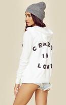 Sundry crazy in love zip hoodie