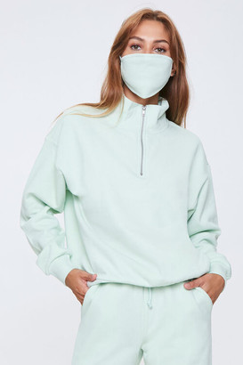 Forever 21 Half-Zip Pullover Face Mask Set