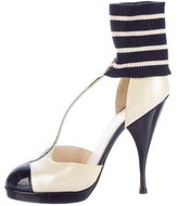 Chanel Ankle Sock T-Strap Pumps
