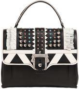 Paula Cademartori Petite Faye Studded Leather Bag W/Fringe