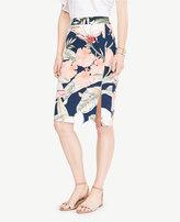 Ann Taylor Tall Island Floral Pencil Skirt