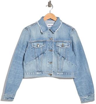 Frame Le Jagged Crop Denim Jacket