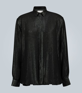 Saint Laurent Long-sleeved sequined shirt