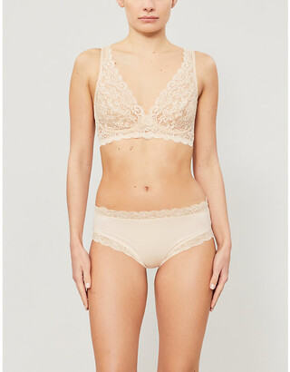 Hanro Moments soft-cup stretch-lace triangle bra