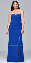 Faviana Strapless Ruched Plus Size Evening Dress