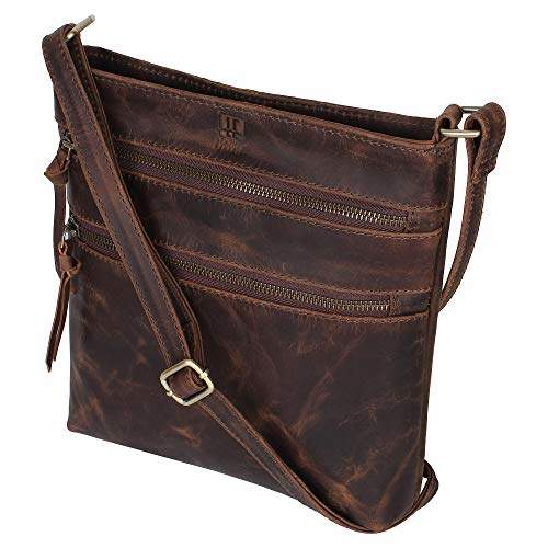 a2f40e5bb0f Leather Crossbody Purse for Women- Crossover Cross Body Bag Long Over the  Shoulder Sling Womens Purses and Handbags