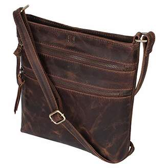 Leather Crossbody Purse for Women- Crossover Cross Body Bag Long Over the Shoulder Sling Womens Purses and Handbags