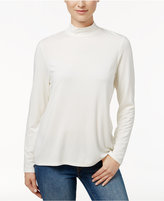 Charter Club Mock-Neck Long-Sleeve Top, Only at Macy's