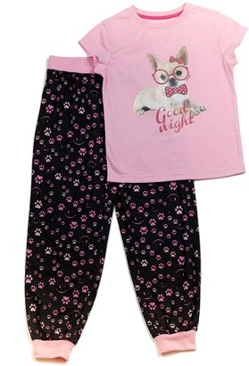 Joe Boxer Big Girl's Dog PJ Set Sleepwear