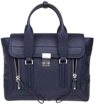 3.1 Phillip Lim Phillip Lim Medium Pashli Bag In Blue Leather