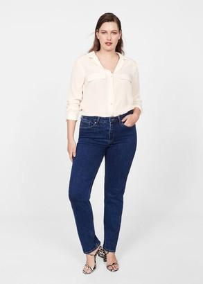 MANGO Satin pocket shirt