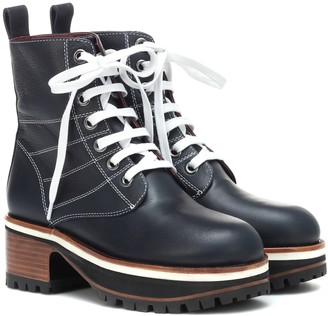 Sies Marjan Leather ankle boots