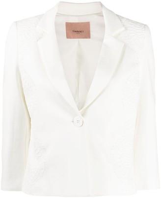 Twin-Set cropped lace blazer