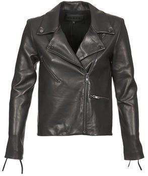 American Retro LEON JCKT women's Leather jacket in Black