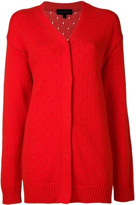 Cashmere In Love Long Perforated Cardigan