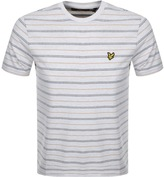 Lyle & Scott Pick Stitch Stripe T Shirt Beige
