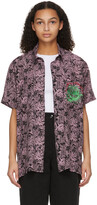 Thumbnail for your product : SSENSE WORKS SSENSE Exclusive Jeremy O. Harris Black & Pink Rose Bowling Shirt