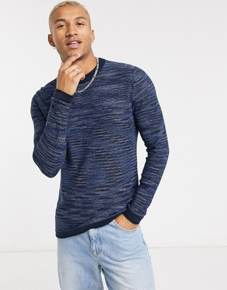 Jack and Jones Originals sweater in navy marl