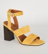 New Look Premium Suede Square Toe Block Heels