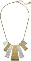 House Of Harlow Golden Scutum Statement Necklace