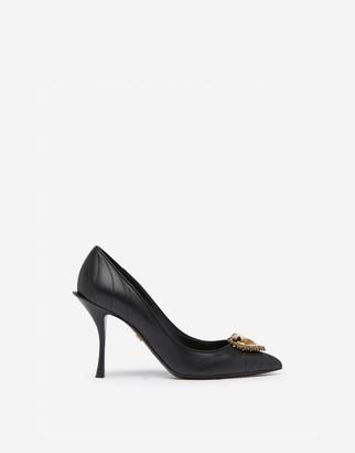 Dolce & Gabbana Matelasse Nappa Leather Devotion Pumps