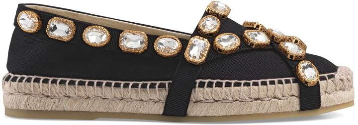 Gucci Canvas espadrille with crystals
