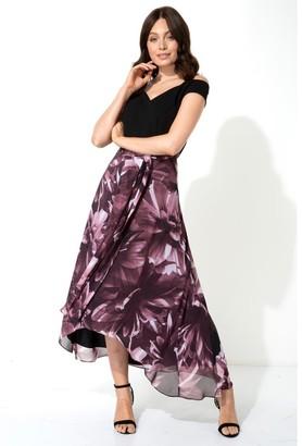 M&Co Roman Originals floral print cold shoulder maxi dress