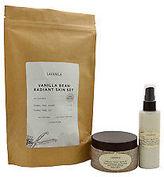 LAVANILA Vanilla Bean Radiant Skin Set 7.5oz Creamy Body Scrub, 3.4oz Creamy