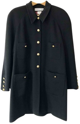 Sonia Rykiel Black Wool Coat for Women Vintage