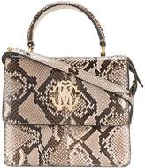 Roberto Cavalli python print shoulder bag - women - Leather - One Size
