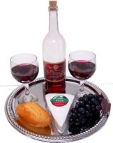 Flora-cal Products Cheese and Wine Tray Fake Food