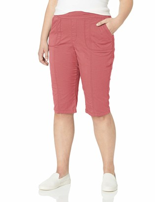 Lee Women's Plus Size Flex-to-Go Relaxed Fit Pull-On Utility Capri Pant