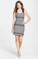 Nicole Miller Graphic Jacquard Sheath Dress