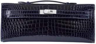 Hermes Kelly Cut Clutch Blue Crocodile Clutch bags