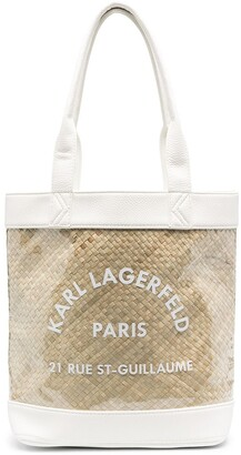 Karl Lagerfeld Paris Transparent Beach Bag