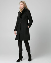Le Château Melton Coat with Faux Fur Collar