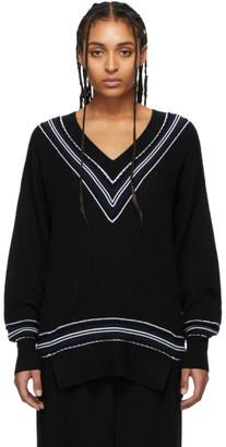 Rag & Bone Black Merino Dianna V-Neck Sweater