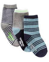 Osh Kosh 3-Pack Striped Crew Socks
